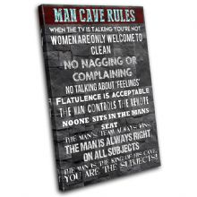 Man Cave House Rules Typography - 13-2371(00B)-SG32-PO
